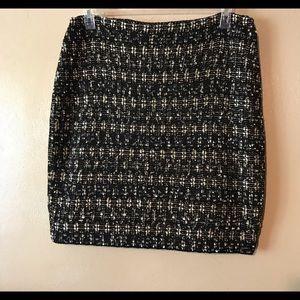 St John Couture lovely design black gold skirt 14